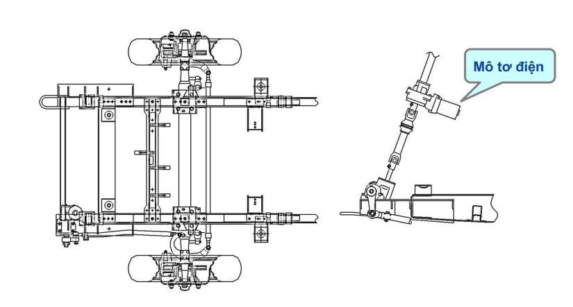 Hệ thống lái xe tải veam vt160