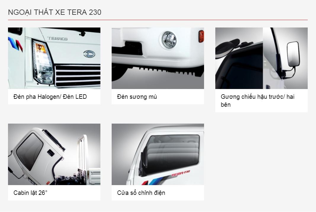 nội thất xe tải teraco 230