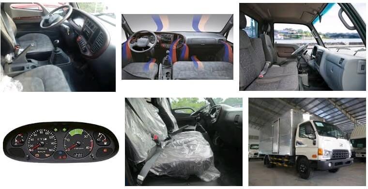 nội thất xe tải hyudnai hd72 3t5